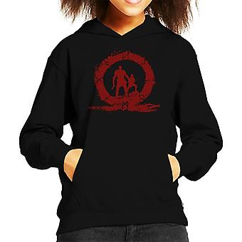 God Of War Hero Blood Silhouette Kid's Hooded Sweatshirt