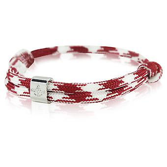 Skipper bracelet surfer band node maritimes bracelet Bordeaux/white 6790