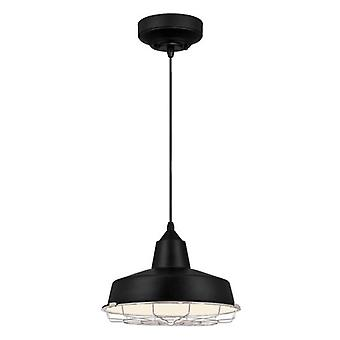Westinghouse Academy One-Light Dimmable LED Pendant black with chrome cage