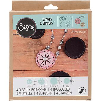 Sizzix Movers & Shapers Magnetic Die Set By Jill Mackay (R)-Leather Flower Concho