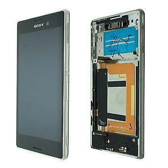 Original Sony Xperia M4 - LCD-Display - Silber