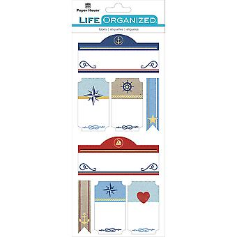 Paper House Life Organized Label Stickers-Nautical