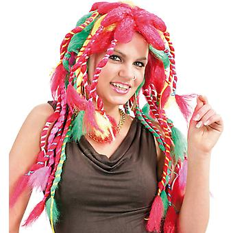 Sally, multicolor longhair pink strands of dreadlocks