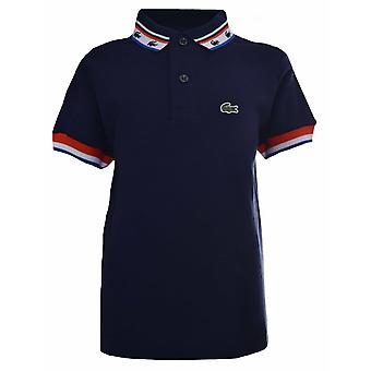 Lacoste Boys Lacoste Kids Blue Striped Polo Shirt