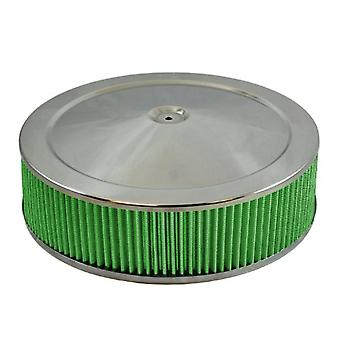 Green Filter 2344 Chrome High Performance Air Cleaner Assembly for 4