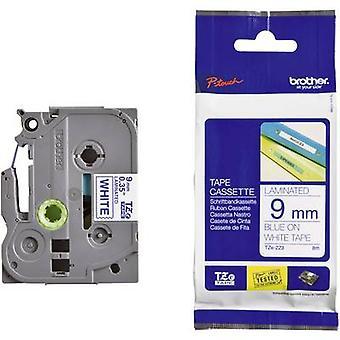 Labelling tape Brother TZe, TZ TZe-223 Tape colour: White Font colour:Blue 9 mm 8 m