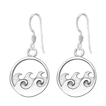 Wave - 925 Sterling Silber Plain Ohrringe - W37853x