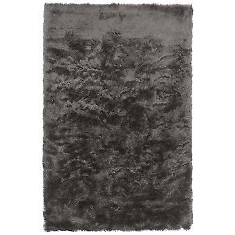 Whisper Shiney Shaggy Rugs In Graphite Grey