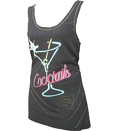 Cocktail T-Back Sleeveless T-Shirt