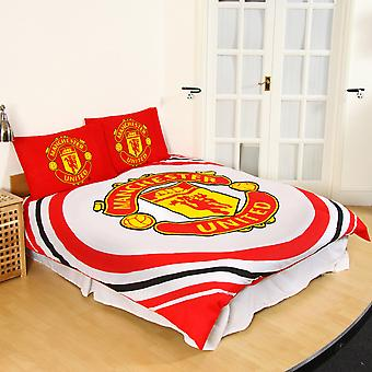Manchester United FC Official  Reversible Pulse Double Duvet Set