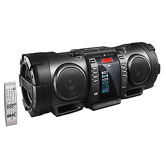 JVC RV-NB100B Portable CD Boomblaster with Lightning Dock, Bluetooth & DAB
