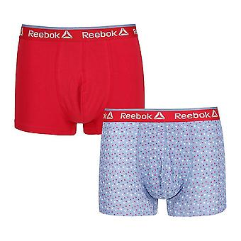Reebok Gym Men's 2 Pack Sports Boxer Underwear Trunks Blue Slate Dylan