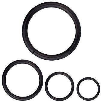 Segment Ring Piercing schwarz Körperschmuck, Dicke 1,2 mm | Durchmesser 6-12 mm