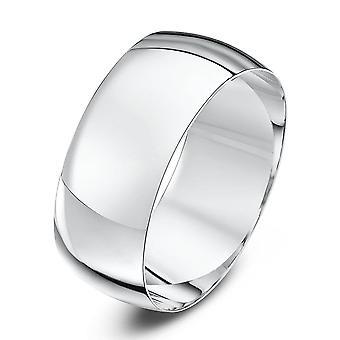 Anneaux de mariage Star 9ct or blanc lumière D forme 8mm bague de mariage