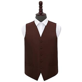 Burgundy Greek Key Wedding Waistcoat
