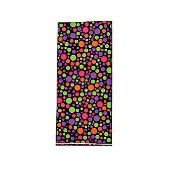 SALE -  12 Bright Spots Cellophane Party Bags for Halloween & Monsters