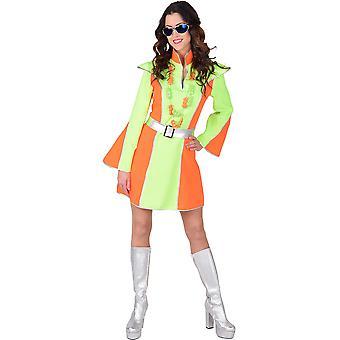 Kostüme Frauen Frauen Neon disco Kleid für Damen