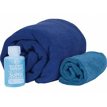 Sea to Summit Tek Towel Wash Kit (Size X Large/Cobalt Blue)