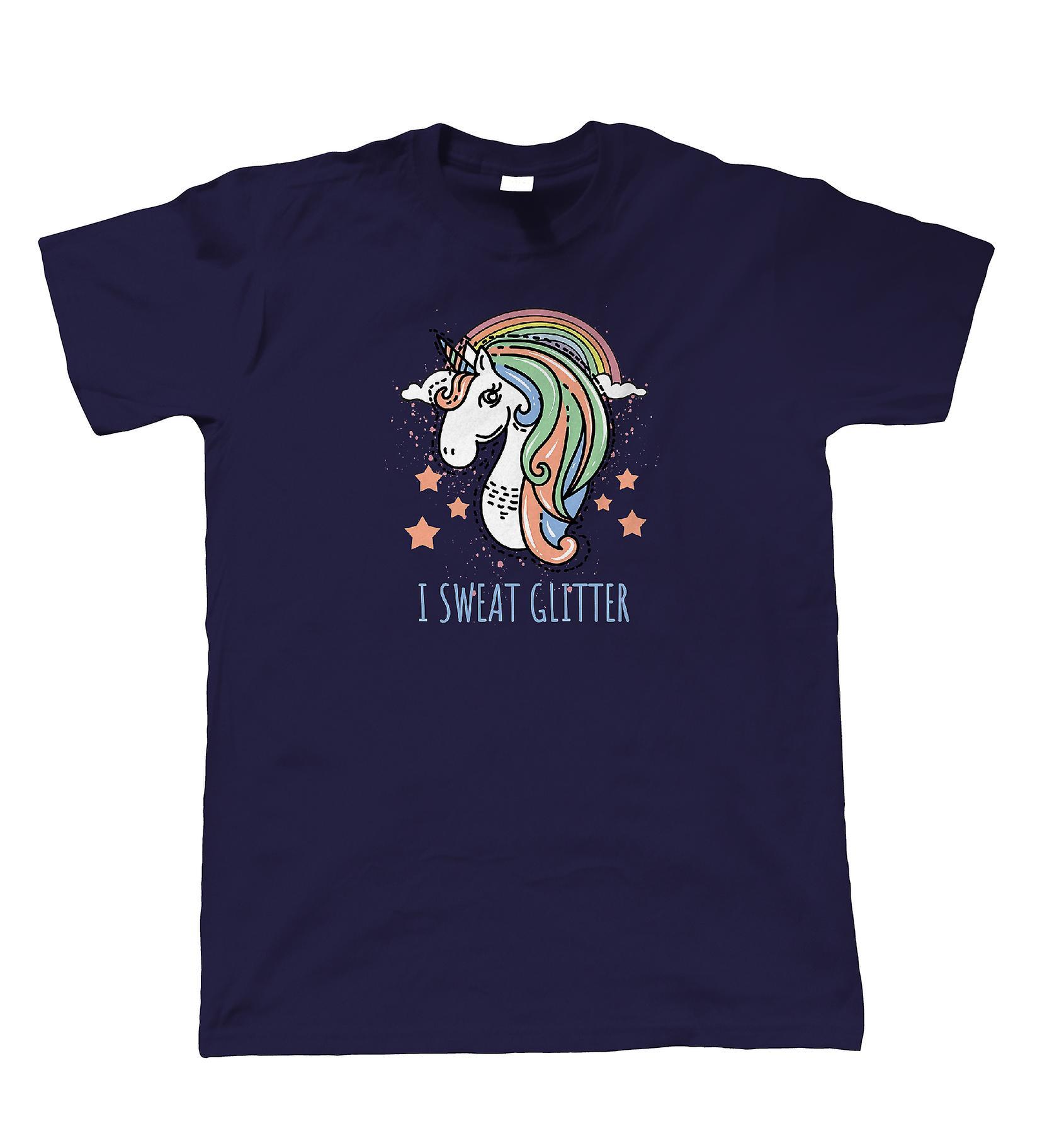I Sweat Glitter Unicorn, Mens T Shirt