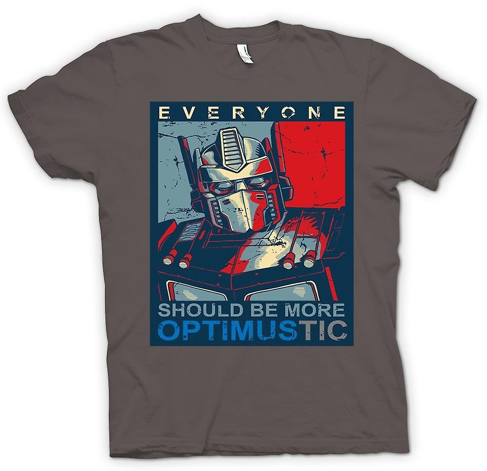 Hommes T-shirt - Transformateurs Optimus Primus Optimustic