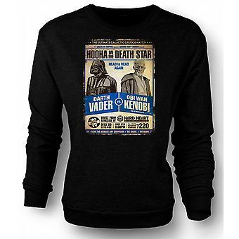 Mens Sweatshirt Vader V Kenobi Grudge Match - plakat