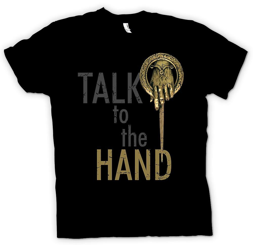 Womens T-shirt - Talk To The Hand - Funny