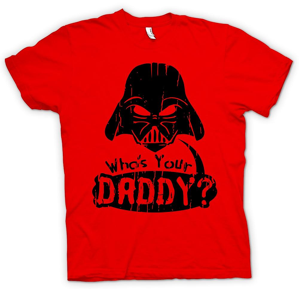 Heren T-shirt-wie je vader - grappige Darth is