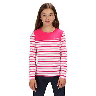 Regatta Girls Calamity Cotton Long Sleeve Jersey T Shirt