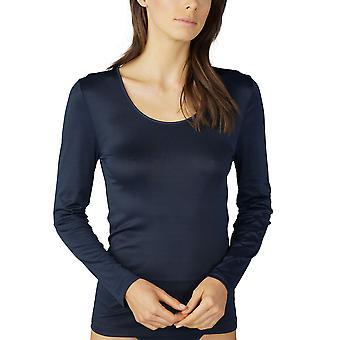Émotion nuit bleu manches longues Top Mey 56202-408 femmes