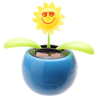 Sunflower Solar Pal Novelty Ornament, Blue