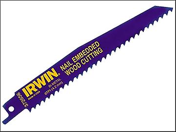 IRWIN 656R Sabre Saw Blade Nail Embedded Wood Cut Pack of 5