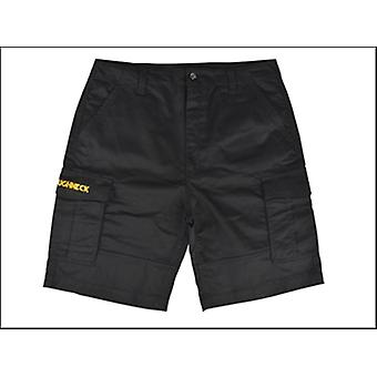 Roughneck Clothing Work Shorts Black Waist 36in