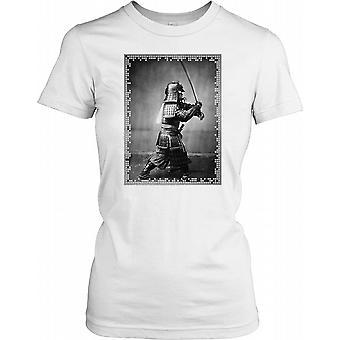 Japansk Samurai med sværd damer T Shirt
