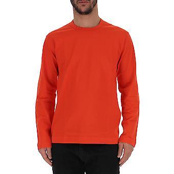 Comme Des Garçons Red Cotton Sweater