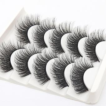 5-pair false eyelashes-6 d faux mink-G203