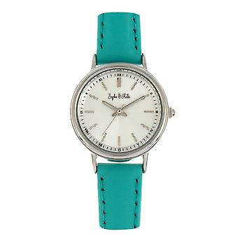 Sophie & Freda Berlin Leather-Band Watch - Turquoise