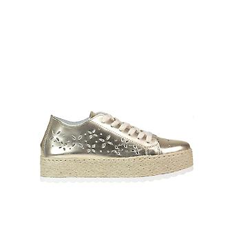 Guess Gold Leather Sneakers