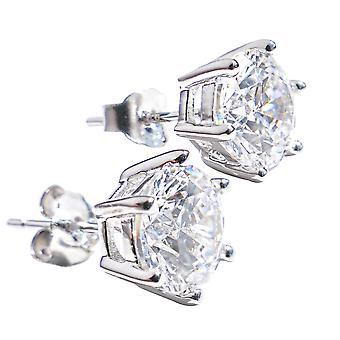 Ah! Cristaux de zircon bijoux de goujons de Swarovski, boucles d'oreilles en argent Sterling