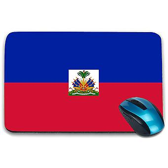 i-Tronixs - Haiti Flag Printed Design Non-Slip Rectangular Mouse Mat for Office / Home / Gaming - 0073