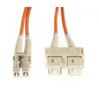 20M Lc Sc Om1 Multimode Fibre Optic Cable Orange
