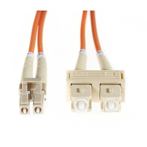 20M Lc Sc Om1 Multimode Fibre Optic Cable Orange