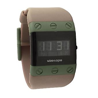 Wize and Ope Willys  Taupe Digital  Watch WO-WIL-2
