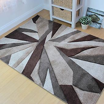 Hand geschnitzt Shatter Beige braun Rechteck Teppiche moderne Teppiche