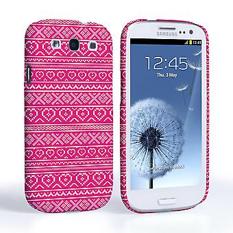 Caseflex Samsung Galaxy S3 Fairisle Case – Pink and White
