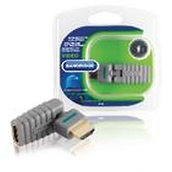 Bandridge High Speed HDMI with Ethernet Adapter Rotatable HDMI Connector - HDMI Female Grey BVP103