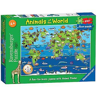 Ravensburger Puzzle Tiere der Welt riesige Boden Puzzle 60 Stück