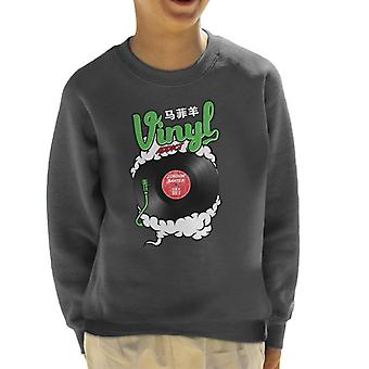 London Banter Vinyl Addict Kid's Sweatshirt