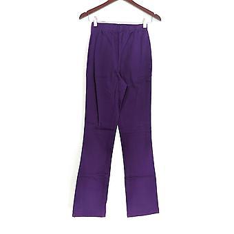 Denim & Co. Leggings S Tall Stretch Boot Cut Purple A01725