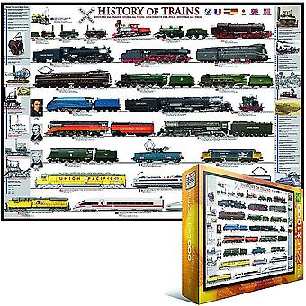 History of Trains 1000 piece jigsaw puzzle   (pz)
