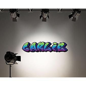 Full Colour Personalised Graffiti Name Purple Green Blue Girls Boys Bedroom Wall Sticker Decal Kids Decoration